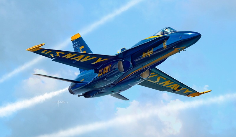 Italeri ITA1324 F/a -18 Hornet '' Blue Angels '' 1:72