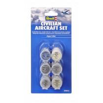 Revell 39072 Conjunto de 6 tintas acrílicas de aviões civil