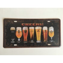 "Bom Years ZJM-301-7 Placa de carro decorativo com relevo "" CHEERS ! """