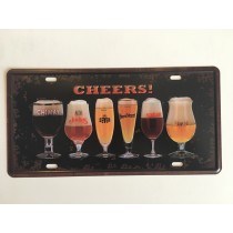"Bom Years ZJM-301-8 Placa de carro decorativo com relevo "" CHEERS ! """