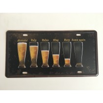 "Bom Years ZJM-301-9 Placa de carro decorativo com relevo "" CHOPP """