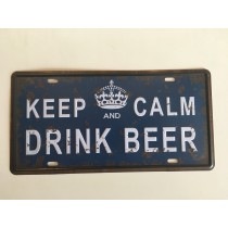 "Bom Years ZJM-302-1  Placa de carro decorativo com relevo "" DRINK BEER """