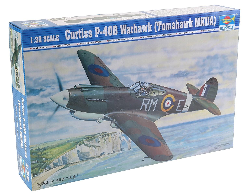 Trumpeter 02228 Curtiss P-40B Warhawk Tomahawk MKIIA 1:32