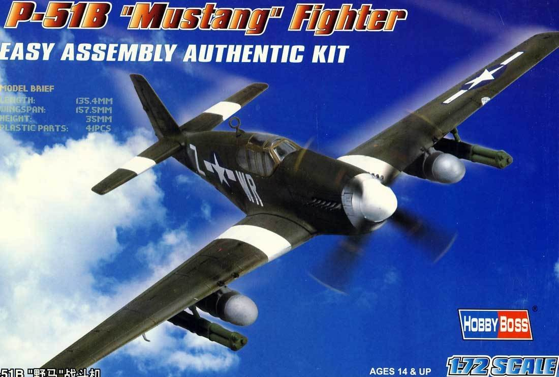 Hobby Boss 80242 P-51b Mustang Fighter 1:72