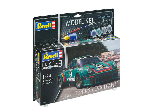 "Revell 67032 Porsche 934 RSR Vaillant  1:24 "" Model-Set """