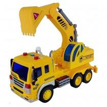 Shinytoys 637 Caminhão Escavadeira a Fricção contínua com Som e Luz 1:16