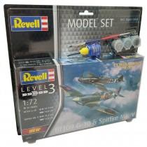 Revell 63710  Messerschmitt  Bf109g-10 & Spitfire Mk.v 1:72 Model Set