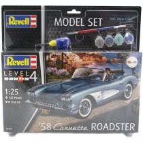 Revell 67037 Corvette Roadster 1958  1:25  Model-Set