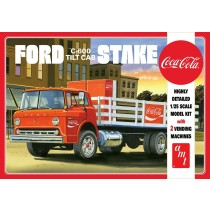 AMT 1147 FORD C600 STAKE BED W/COCA-COLA MACHINES 1:25