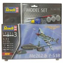 """REVELL 63711 Messerschmitt Me262 & P-51B Mustang 1:72  """" MODEL SET """""""