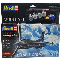 "Revell 63844 Lockheed Martin F-16D Tigermeet 2014  1:72  "" Model Set """