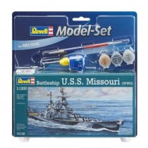 "Revell 65128 Battleship U.S.S. Missouri WWII 1:1200  "" Model-Set  """