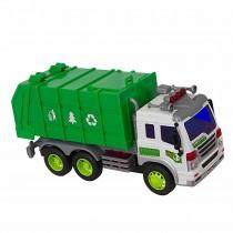 Shinytoys 307S Caminhão de lixo a Fricção com Som e Luzes