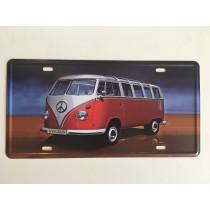 """Bom Years ZJM-404-4 Placa de carro decorativo com relevo """" V.W. KOMBI """""""