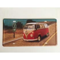 """Bom Years ZJM-404-5 Placa de carro decorativo com relevo """" V.W. KOMBI """""""