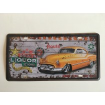 """Bom Years ZJM-307-8 Placa de carro decorativo com relevo """" CARRO """""""