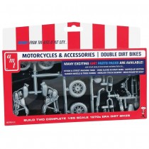 AMT PP014 Motorcycles & Accessories ! Double Dirt Bikes 1:25