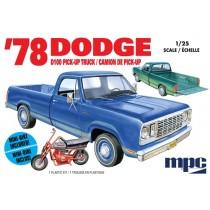 MPC 901 DODGE D100 CUSTOM PICKUP  1978 1:25