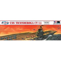 Atlantis R611 USS Ticonderoga CV-14 Angled Deck Carrier  1:500